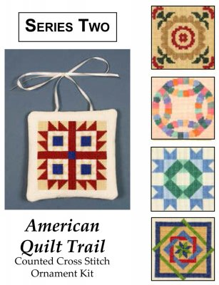 click here to view larger image of American Quilt Trail - Series 2 (5 Designs) (counted cross stitch kit)