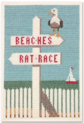 click here to view larger image of Beaches / Rat Race (counted cross stitch kit)