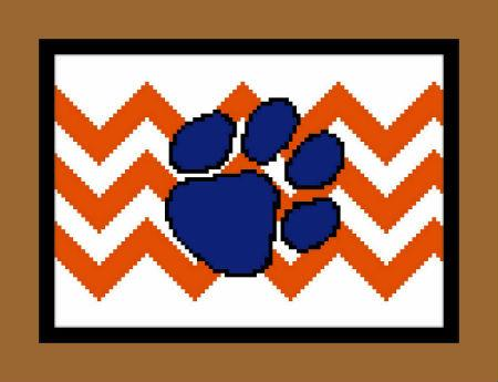 click here to view larger image of Chevron Pawprint (chart)