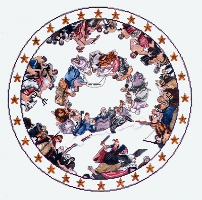 click here to view larger image of Apotheosis Of Washington (counted cross stitch kit)
