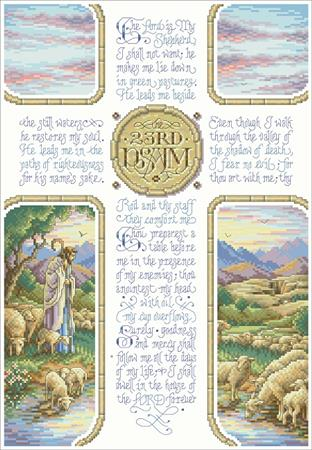 click here to view larger image of 23rd Psalm (chart)
