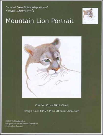 click here to view larger image of Mountain Lion Portrait (chart)