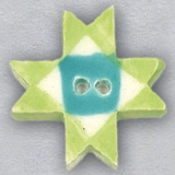 click here to view larger image of Lime Ohio Star Ceramic Button (buttons)