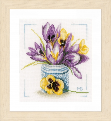 click here to view larger image of Crocus (counted cross stitch kit)