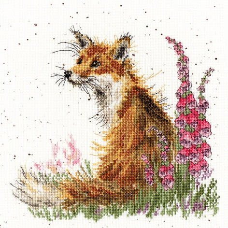 click here to view larger image of Amongst The Foxgloves (counted cross stitch kit)