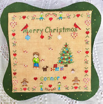 click here to view larger image of All Children Love Christmas - Boy (chart with charms/buttons)