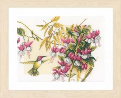click here to view larger image of Colibri and Flowers (counted cross stitch kit)