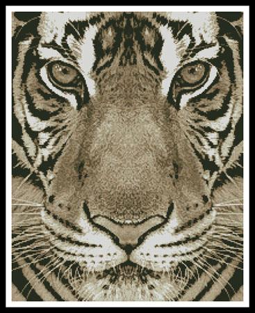 click here to view larger image of Bengal Tiger (Sepia) (chart)