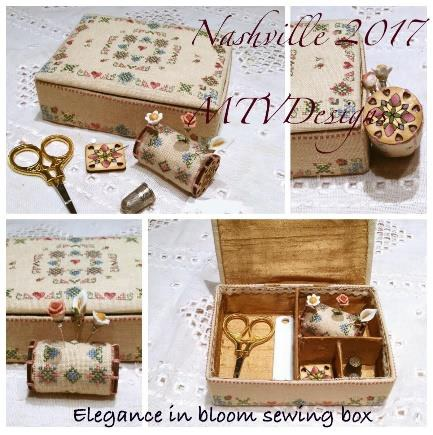 click here to view larger image of Elegance In Bloom Sewing Box (chart with charms/buttons)