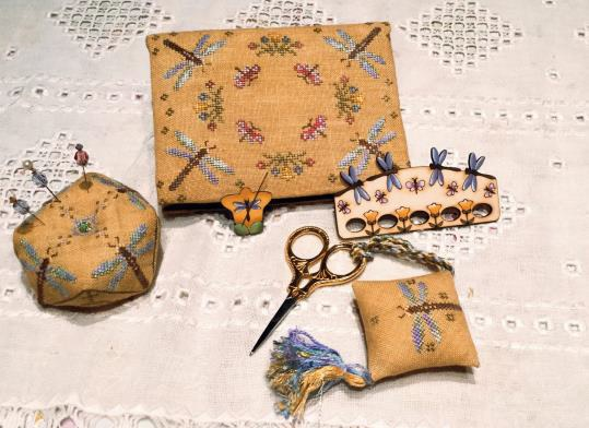 click here to view larger image of Dancing Dragon Flies Sewing Set (chart)
