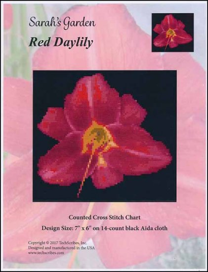 click here to view larger image of Red Daylily - Sarahs Garden Series (chart)