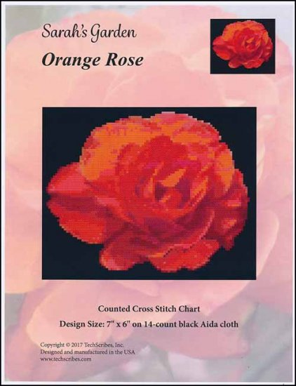 click here to view larger image of Orange Rose - Sarahs Garden Series (chart)