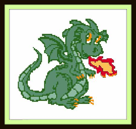 click here to view larger image of Cute Dragon (chart)