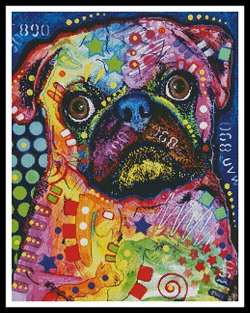 click here to view larger image of Abstract Pug (chart)
