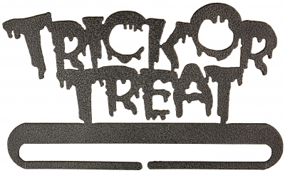 click here to view larger image of Trick Or Treat Split Bottom Bellpull - Charcoal - 6in (accessory)