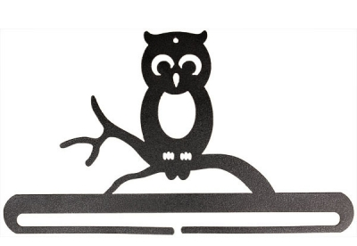 click here to view larger image of Whimsical Owl Split Bottom Bellpull - Charcoal - 12in (accessory)