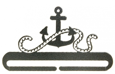 click here to view larger image of Anchor Split Bottom Bellpull - Charcoal - 6in (accessory)