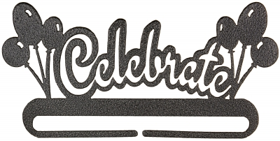 click here to view larger image of Celebrate Split Bottom Bellpull - Charcoal - 8in (accessory)