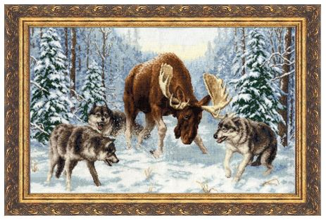click here to view larger image of Meeting in the Forest (counted cross stitch kit)