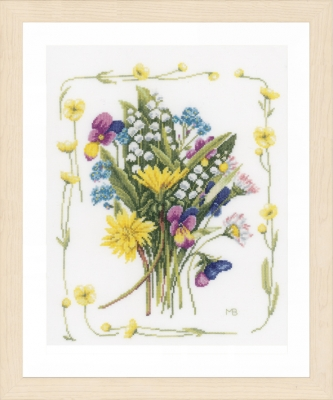 click here to view larger image of Bouquet Of Flowers (counted cross stitch kit)