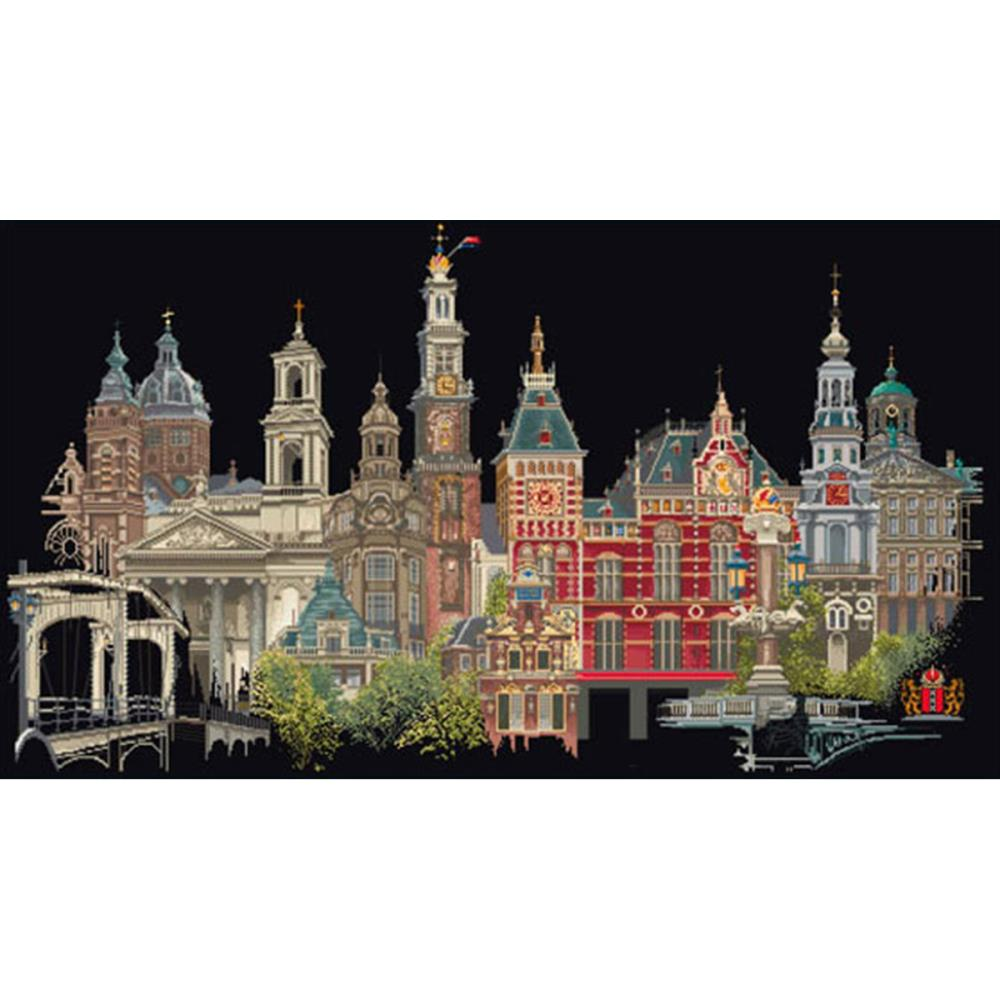 click here to view larger image of Amsterdam - On Black (counted cross stitch kit)