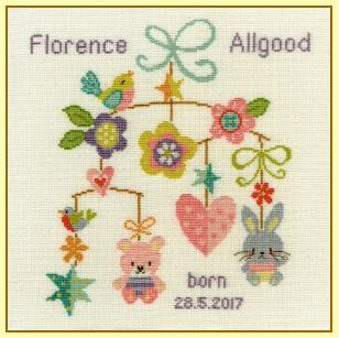 click here to view larger image of Baby Mobile (counted cross stitch kit)