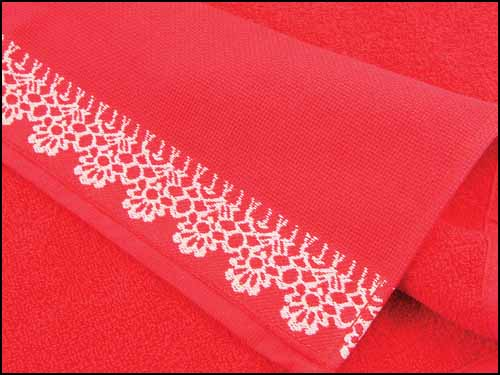 click here to view larger image of Veneza Hand Towel - Red (stitchable)