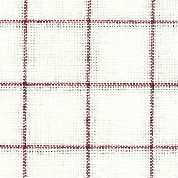 click here to view larger image of Carre Antique White With Red Lines - 32ct Belfast (Zweigart Belfast Linen 32ct)
