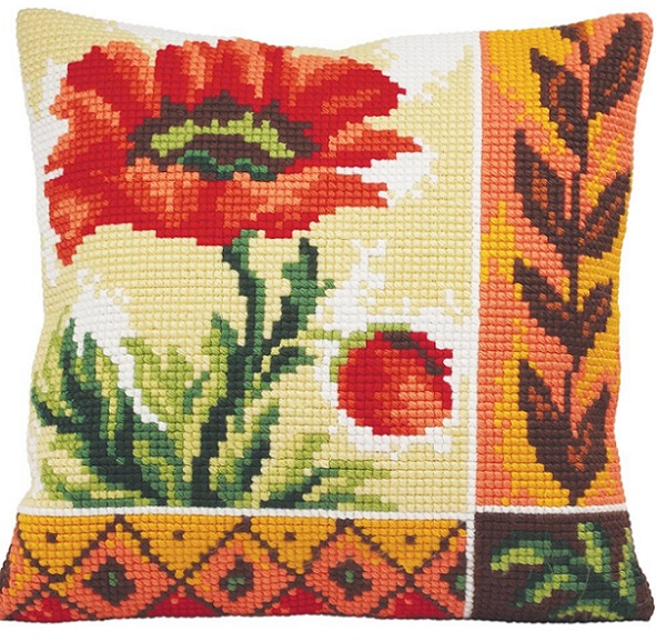 click here to view larger image of Coquelicot Nouveau (New Poppy) (needlepoint)