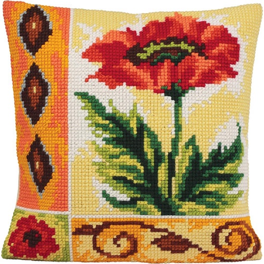click here to view larger image of Coquelicot Vaillant (Valiant Poppy) (needlepoint)