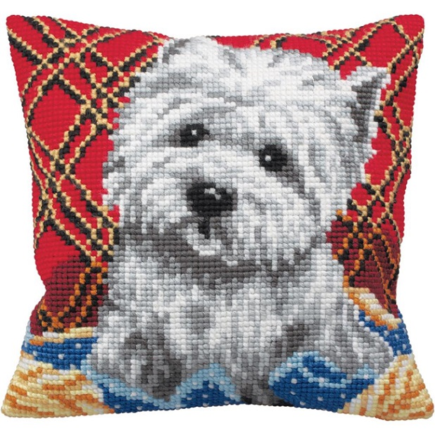 click here to view larger image of Bichon (needlepoint)
