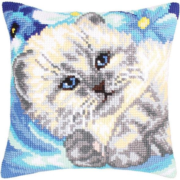 click here to view larger image of Cute Kitten (needlepoint)