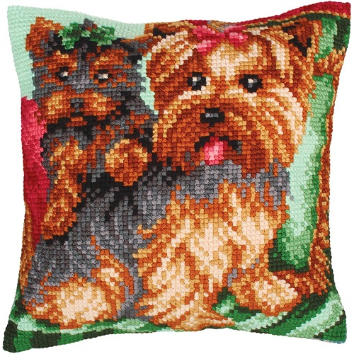 click here to view larger image of Dogs on the Armchair (needlepoint)