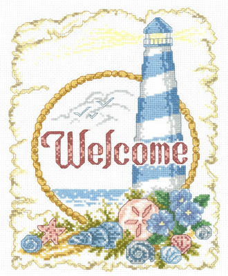 click here to view larger image of Coastal Welcome - Kit (counted cross stitch kit)