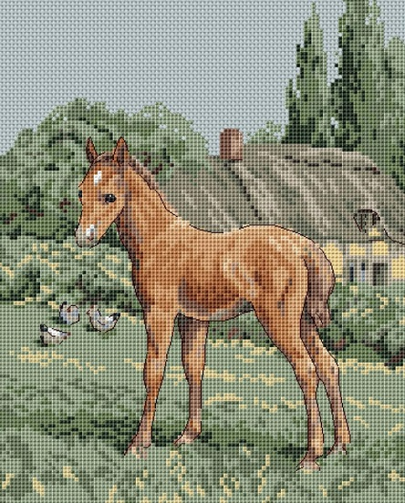 click here to view larger image of Colt Cottage (counted cross stitch kit)