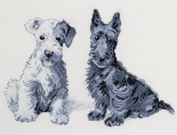 click here to view larger image of Molly & Evie (counted cross stitch kit)