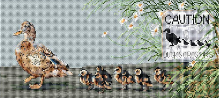 click here to view larger image of Ducks Day Out (counted cross stitch kit)