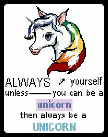 click here to view larger image of Be A Unicorn (chart)