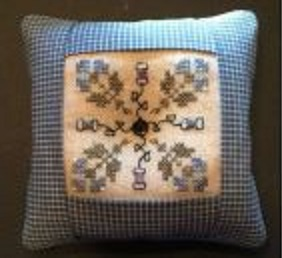 click here to view larger image of Spools And Flowers Pin Cushion - Kit (counted cross stitch kit)