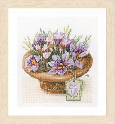 click here to view larger image of Crocus Flowers by Marjolein Bastin (counted cross stitch kit)
