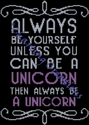 click here to view larger image of Always Be A Unicorn (chart)