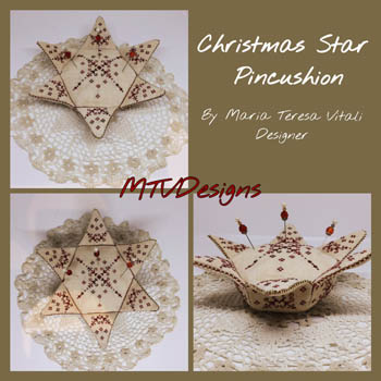 click here to view larger image of Christmas Star Pincushion (chart)