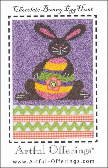 click here to view larger image of Chocolate Bunny Egg Hunt (Punchneedle) (Punchneedle)