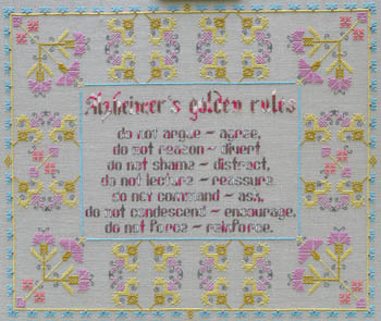 click here to view larger image of Alzheimers Golden Rules (chart)