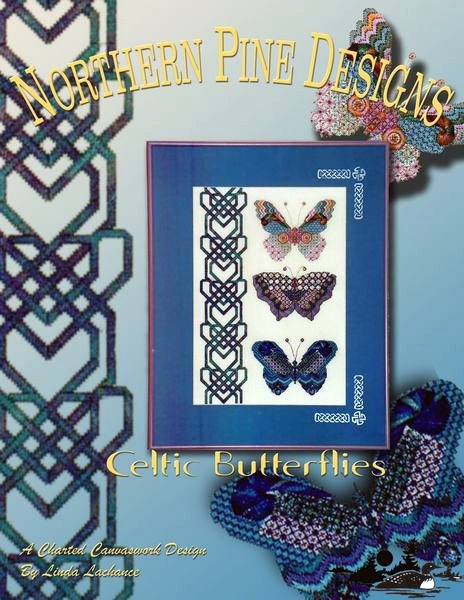 click here to view larger image of Celtic Butterflies (counted canvas chart)