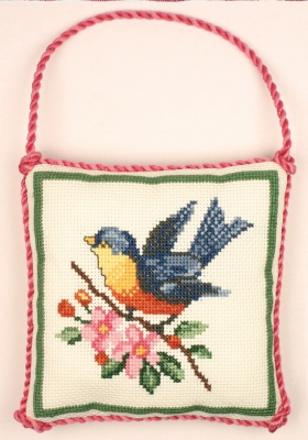 click here to view larger image of Bluebird Ornament - Susan Branch (counted cross stitch kit)