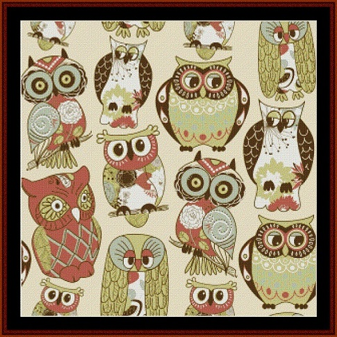 click here to view larger image of Abstract Owls (chart)