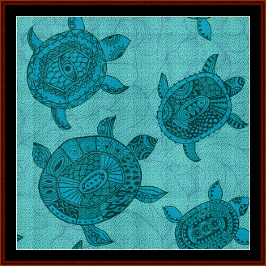 click here to view larger image of Abstract Turtles (chart)