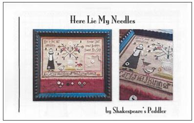 click here to view larger image of Here Lie My Needles (chart)