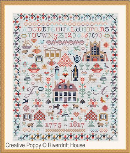 click here to view larger image of Jane Austen Sampler (counted cross stitch kit)